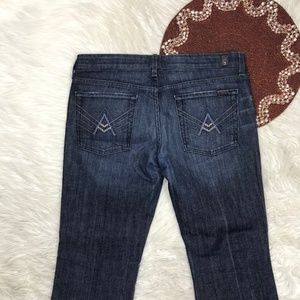 7 For All Mankind A Pocket Women Sz 32 X 30 3-9